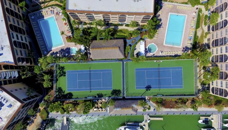 Two Pools, Two Tennis Courts
